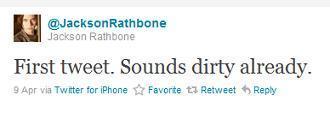Jackson Rathbone a lui aussi un compte Twitter