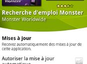 Recherche d'emploi Monster trouver avec votre smartphone