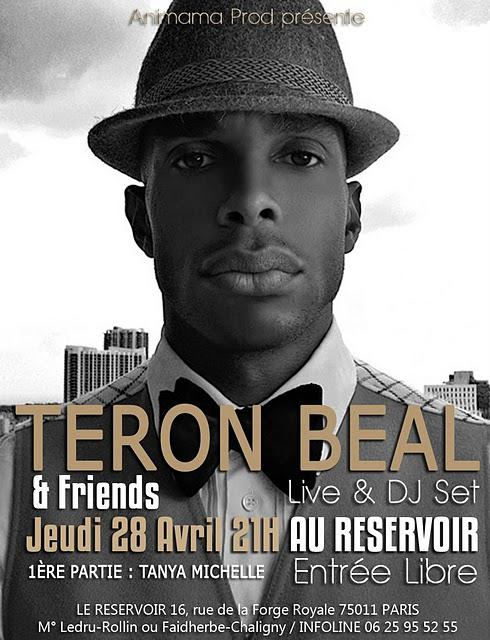 Agenda : Teron Beal & Friends le 28 avril au Reservoir