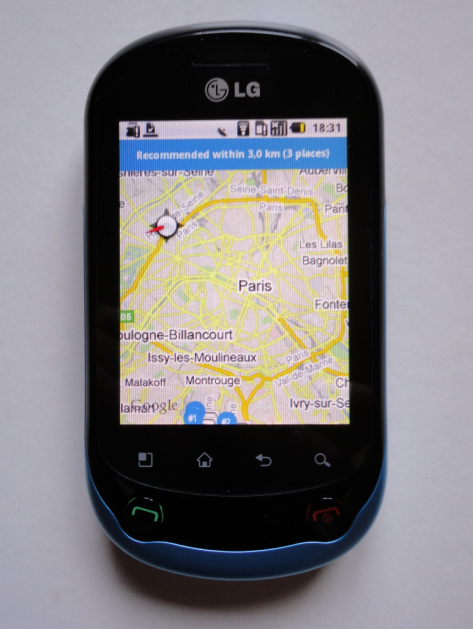Test du smartphone LG Optimus Chat