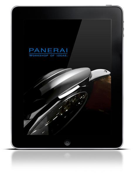 Screenshot iPad app Panerai Naissance de Panerai Magazine, l'application Officine Panerai pour iPad