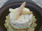 Flan saumon pointes d'asperges émulsion moutardée