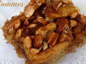 Gâteau pommes, amandes caramélisées farine matsa