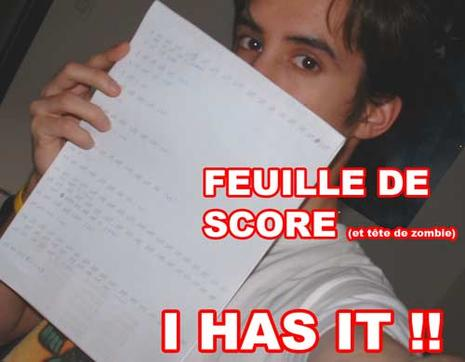 feuille de score i has it