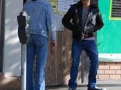 "Sean Penn, James Franco Emile Hirsch plateau tournage film ""Milk"""