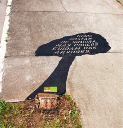Bien connu Guerilla marketing contre le déforestation au Brésil | À Voir UI15