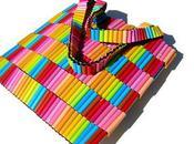 feutre sac, recyclage insolite hautement coloré…