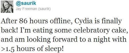 Cydia remarche enfin !