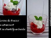 Verrine fraises citron vert chantilly basilic
