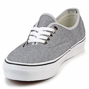 vans gris femme