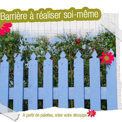 fabriquer un barri re de jardin voir. Black Bedroom Furniture Sets. Home Design Ideas