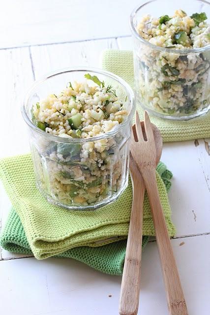 Salade de céréales gourmandes  au poulet et légumes croquants