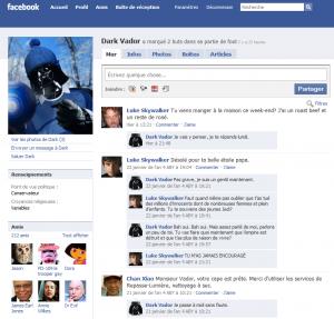 Profil Facebook de Dark Vador