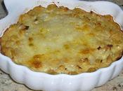 Gratin coquillettes complet crabe, lait coco