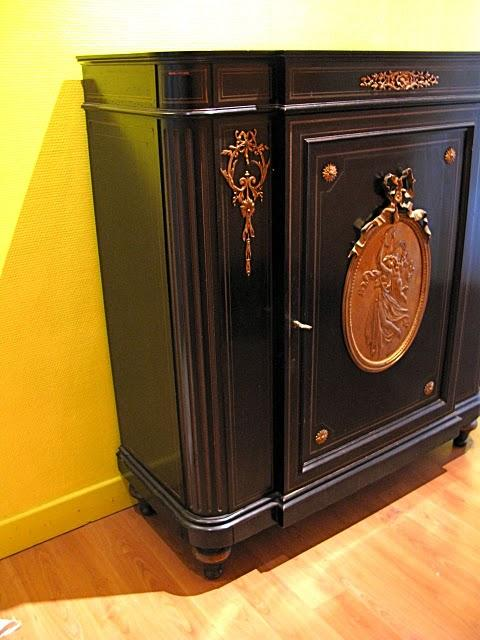 entree coloree meuble style ancien moderne