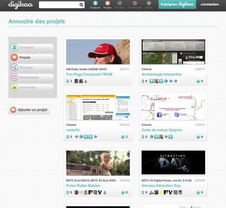 Digikaa - réseau social des professionnels du web