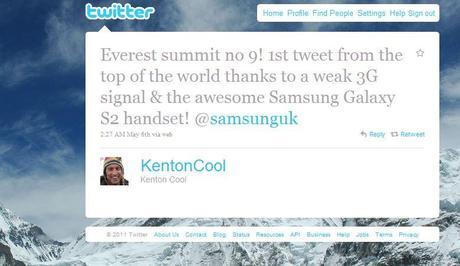 Voici le premier tweet envoyé du toit du monde !