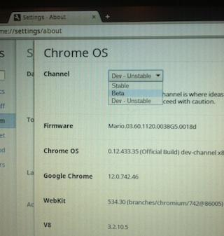chrome os stable Une version stable pour Chrome OS ?