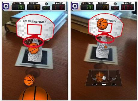ARBasketball sur iPhone, jouer au basket au bureau...