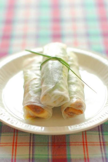 Mes rouleaux de printemps Figue & Comté ◗▲ My Comté & Fig summer rolls