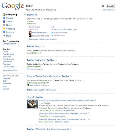 google une nouvelle page de résultats image