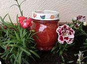 Confiture fraise-rhubarbe (allégée sucre mais goût)