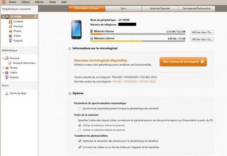 kies 221 540x371 Test : Samsung Galaxy S2