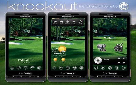 knockout dock icone launcher pro