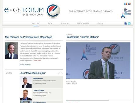 E-G8 Forum à Paris le 24 et 25 mai 2011