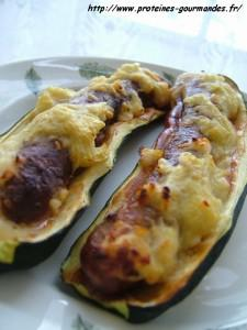 Courgettes en hot dog