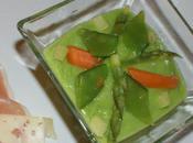 Velouté petits pois légumes printemps