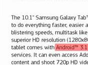 Galaxy 10.1 embarquera Android