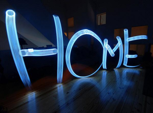home is where the light is collection d'images de light painting