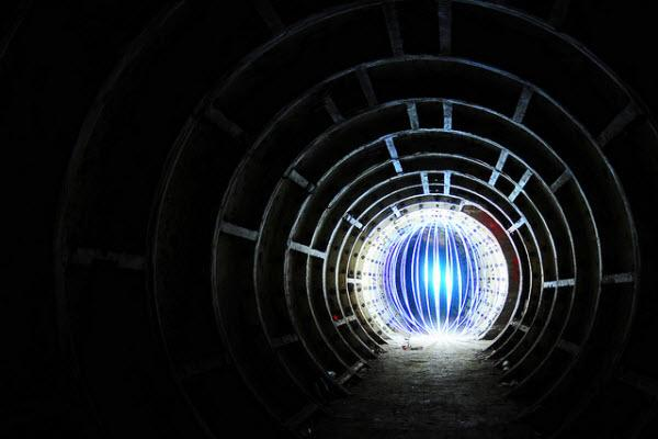 tunnel orb collection d'images de light painting