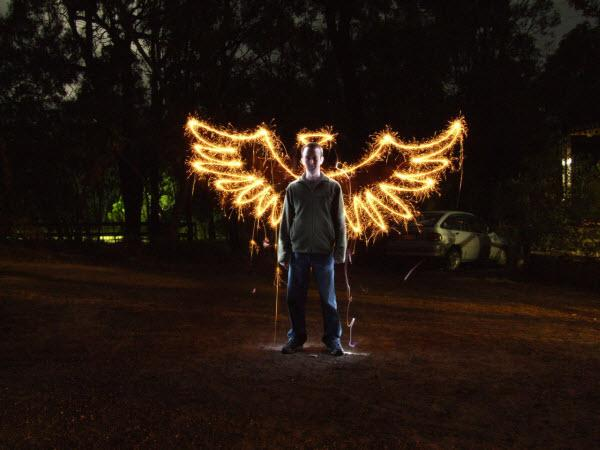 the angel collection d'images de light painting