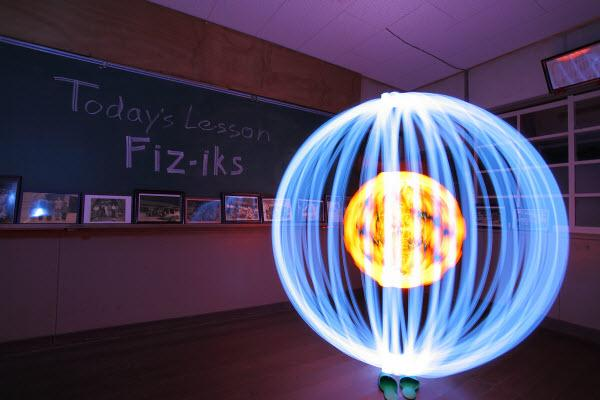 ballin in school collection d'images de light painting