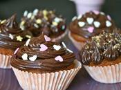 Cupcakes pralinés pépites chocolat, glaçage nutella-mascarpone