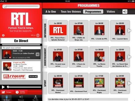 RTL lance son application iPad