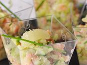Tartare saumon, recette chéri jolies verrines