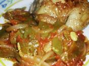 Haricots plats l'oignon tomates (loubia b'sel tomatiches)