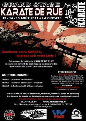 Buzz : Grand stage «Découverte du Karaté de Rue» à la Ciotat