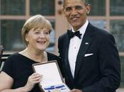 Angela Merkel reçu d´Obama grande médaille liberté