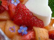 Fraise Melon salade glaçon Petit Suisse Sureau