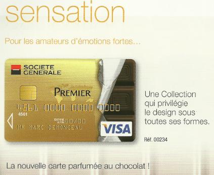 Connu Une carte bancaire parfumée - Paperblog CM71