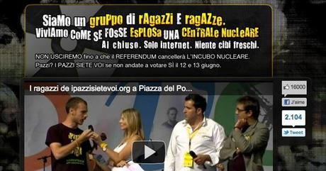 Alerte nucléaire sur le web italien