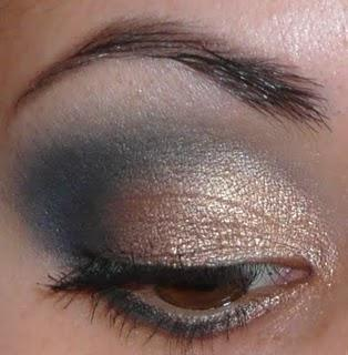 Tutoriel: makeup de soirée Gold and blue...