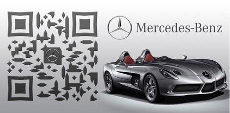qr code de Mercedez Benz