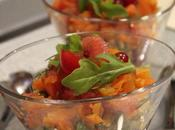 Verrine tricolore betteraves, sardine carottes