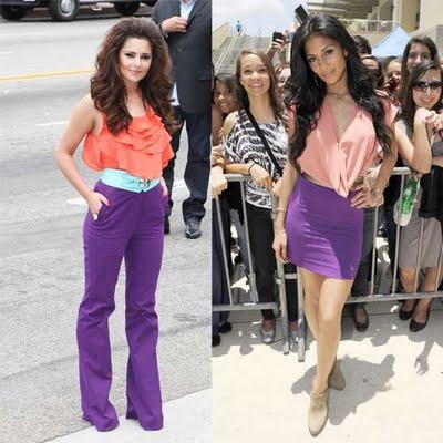 Look 2 Stars : Nicole Scherzinger VS Cheryl Cole (Fashion Fight)