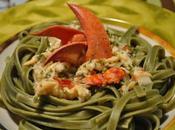 Fettuccine, sauce crémeuse homard!